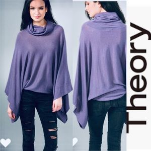 THEORY Riddick Cowl-neck Sweater Ponchos